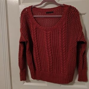 American Eagle Rustic Pink Cable Knit Sweater Sz M